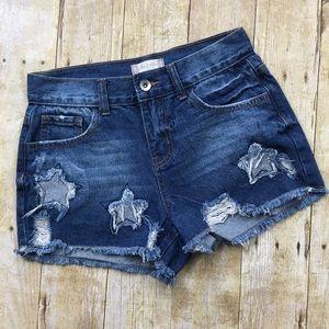 Altair's State High Rise Denim Cut Off Shorts